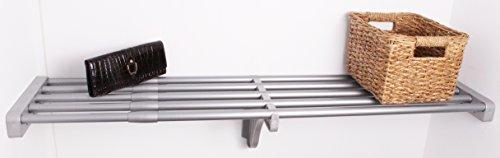 EZ Shelf - 40 - 73 Expandable Shelf - Silver - No Brackets - For Mounting Between Two Sidewalls