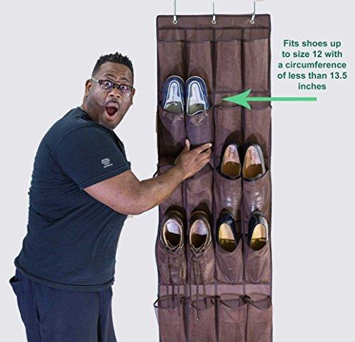 WJkuku Hanging Shoe Organizer with 24 Pockets Declutter Your Closet-Neaten Your Space
