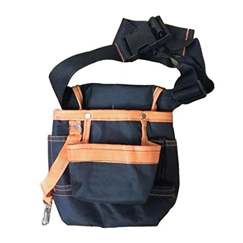 Waist Tool Bag Oxford Waterproof Small Waist Tool Bag for Electricians Durable Tool Kit Pouch Holder Utility Maintenance Tool Bag for Organizing