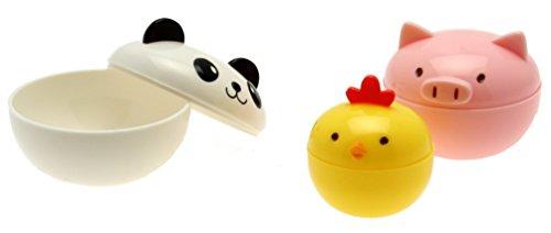 Kotobuki Mini Condiment Containers for Bento Box Panda Piggy and Chick