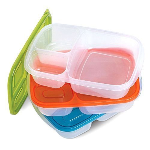 3 PCS BENTO BOX SET Bento Lunch Boxes Nesting Multi-compartment Reusable Lunchbox Made with High Quality Plastic Microwavable Dishwasher Safe