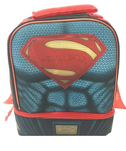 DC Comics Superman Dual Compartment Lunch Box with Cape