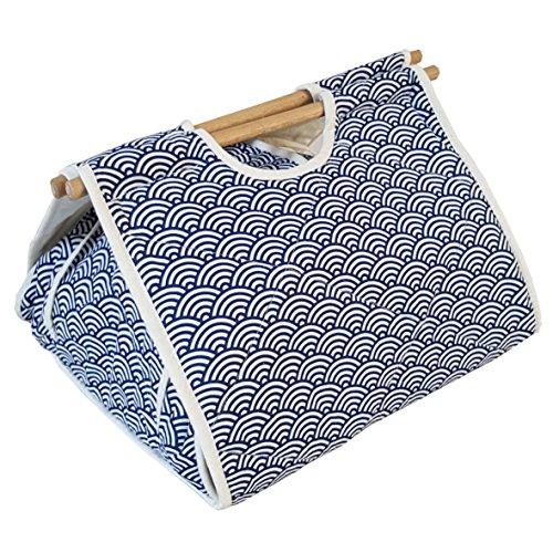 125x133 Casserole Carrier Bento Bag - Ocean Wave Blue