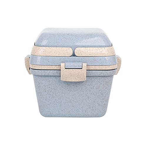 D-YYBB Leakproof Bento Mini Lunch BoxBento Lunch Box For KidsAdults Lunch Containers 3 TiersWheat Fiber Eco Lunch BoxesLeakproofLunch Box Food Containers Leak ProofFor Kids Adults School