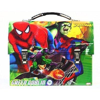 Spider-Man Spiderman Vs Green Goblin - Green Kids Metal Tin Lunch Box