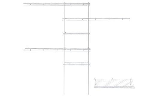 ClosetMaid 1608 5ft to 8 Ft Closet Organizer Kit White