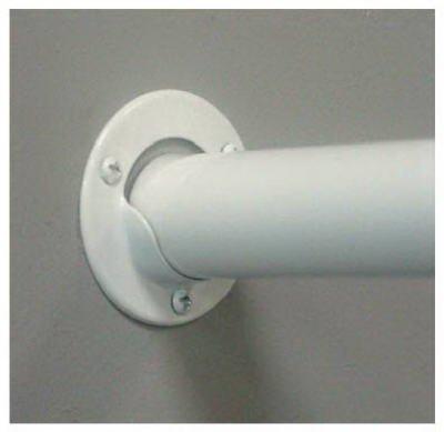 Knape Vogt Closet Pole Socket White 1-38 Dia