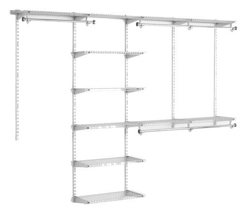 Rubbermaid 3H89 Configurations 4-to-8-Foot Deluxe Custom Closet Organizer System Kit Titanium