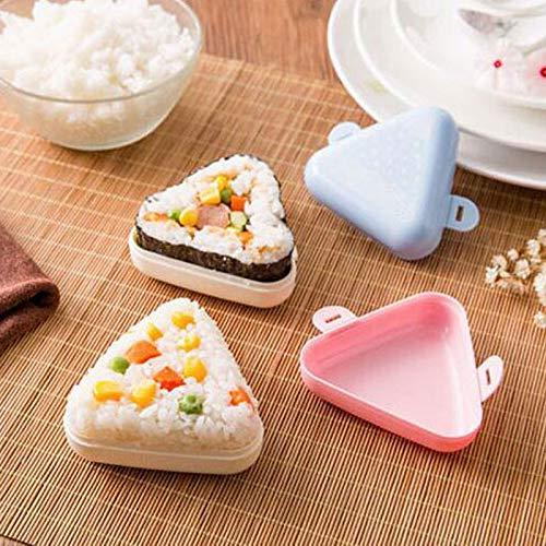 Fiesta LuxDream Sushi Maker Japanese Onigiri triangle Bento Box Kitchen Accessories DIY Rice Ball mold Nori Sushi Tools 2pcsSet Send Random color