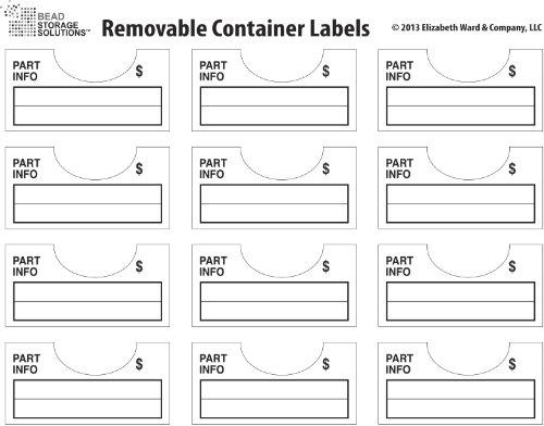 Darice 96-Piece Elizabeth Ward Bead Storage Solutions Container Labels