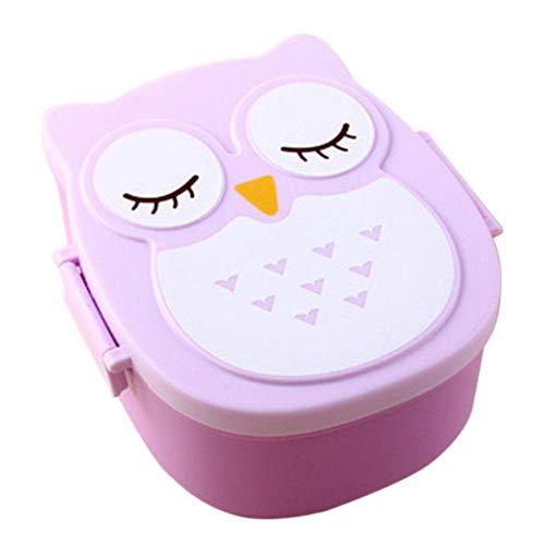 Homene Baby Children Adult Cartoon Plastic Lunch Box Portable Cute Bento Box Bowl Lunch Boxes 1 Pc
