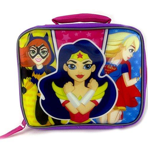 DC Comics Super Hero Girls Batgirl Wonder Women and Supergirl Rectangular Insulated Lunch Box