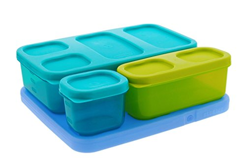 Rubbermaid LunchBlox Kids Flat Lunch Kit TurquoiseGreen
