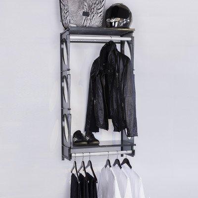 2 Closet Shelving Kit Finish Black