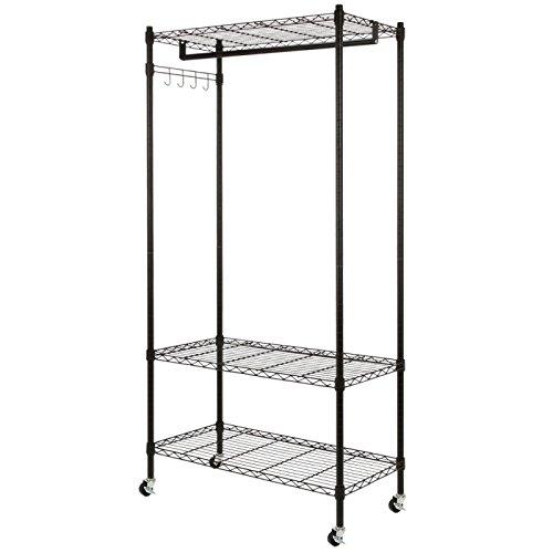 Homegear Wire Garment Rack  Cupboard Closet Shelving Unit