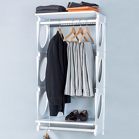 KiO 2-Foot Closet and Shelving Kit in White