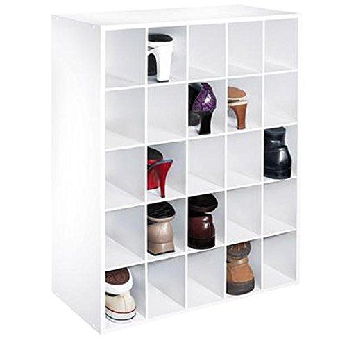 White Shoe Rack Closet Shelving Unit Optimal Organization Handy Sneaker Cubbie