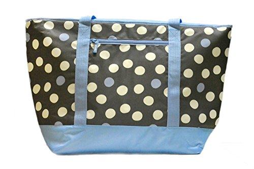 12 Gallon Insulated Mega Tote Bag for Transporting Frozen Food Perishables and Hot Food - Polka Dot Print