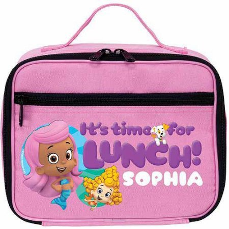 Personalized Bubble Guppies Guppy Girls Pink Lunch Bag
