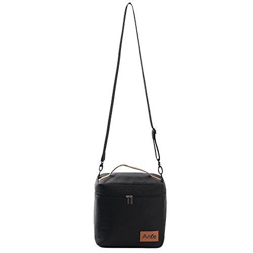 Antecrea Insulated Lunch Cooler Bag Multipurpose Soft Cooler BlackLarge