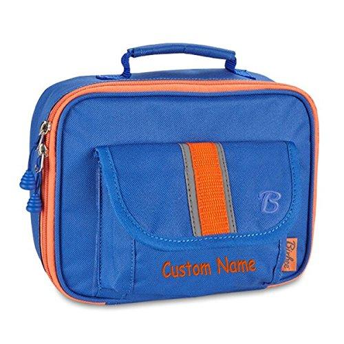 Personalized Bixbee Signature Kids Insulated Lunchbox - Blue CUSTOM NAME
