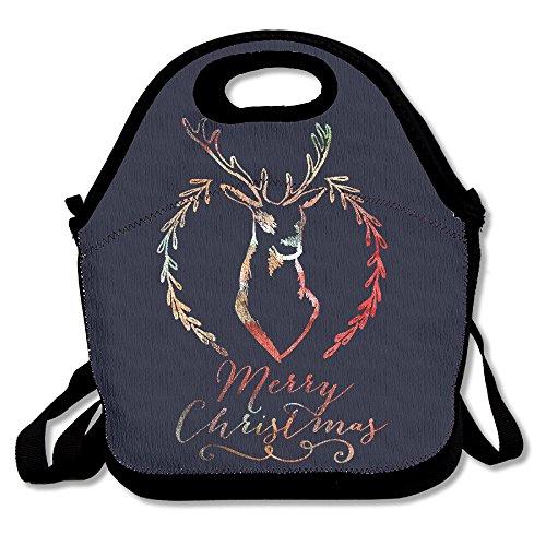 Merry Christmas Deer Printed Pretty Lunch Bags