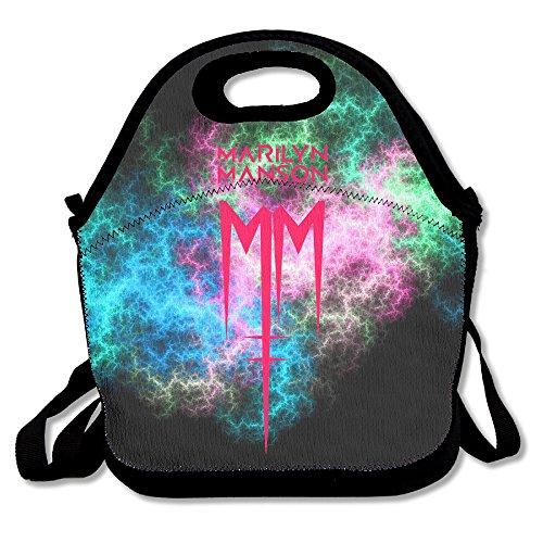 Reusable Marilyn Manson Logo Crossbody Pretty Lunch Bags