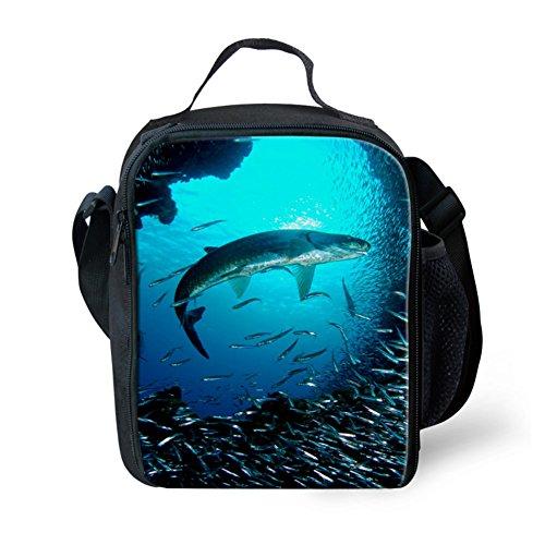 CHAQLIN Cool Sea World Print Lunch Bags for Kids Food Box