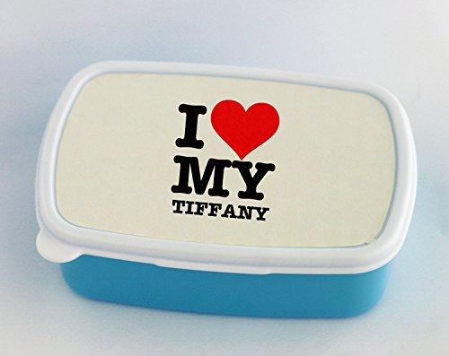 I LOVE MY TIFFANY blue Lunch Box