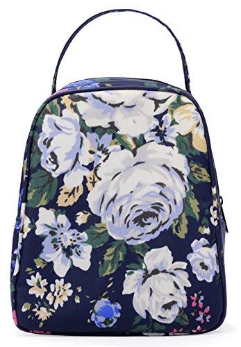 MELROSE Women Fashion Ultra Light Small Lunch Bag Lunch Handbag Box Royal Blue