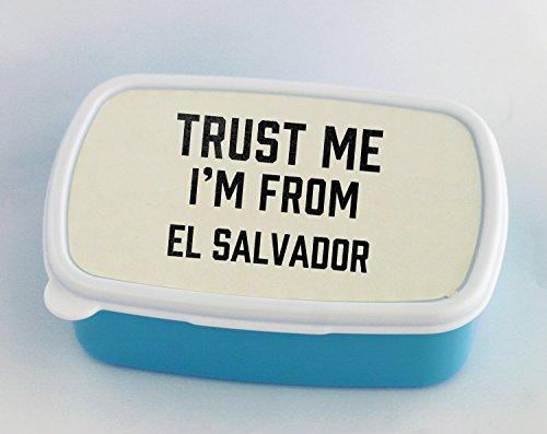 Trust me I am from El Salvador blue Lunch Box