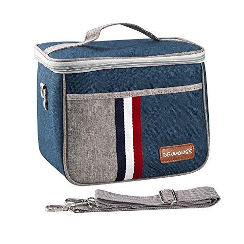Cooler Insulated Bag Handbag Lunch Bag Mini Picnic Cooler Bag Insulated Lunch Bag for OfficeSchoolPicnicWith Shoulder Strap