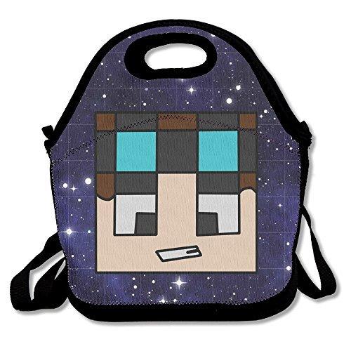 TRYdoo The Diamond Minecart DAN TDM Handbag Lunch Bags Snack Bags