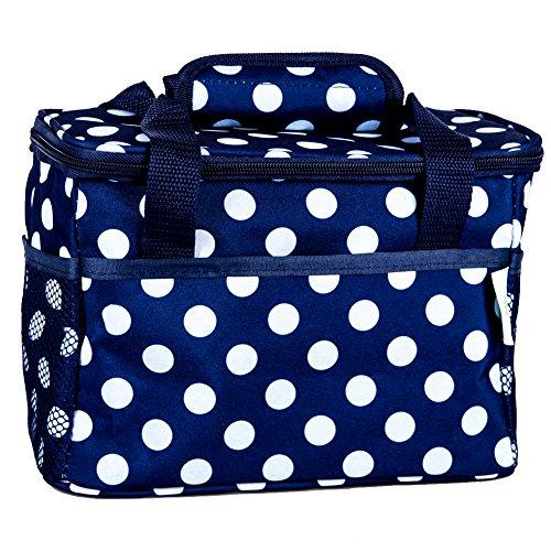 HOLYLUCK Insulated Lunch Bag for Women Men Kids Outdoor Picnic Work School Dark Blue Waves