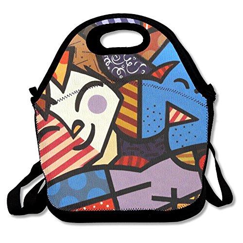 Child And Puppy Friendship Popular Lunch Bag Picnic Bag Backpack Bag Shoulder Bag Handbag
