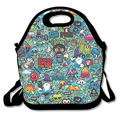 Hip-Hop Funny Popular Lunch Bag Picnic Bag Backpack Bag Shoulder Bag Handbag