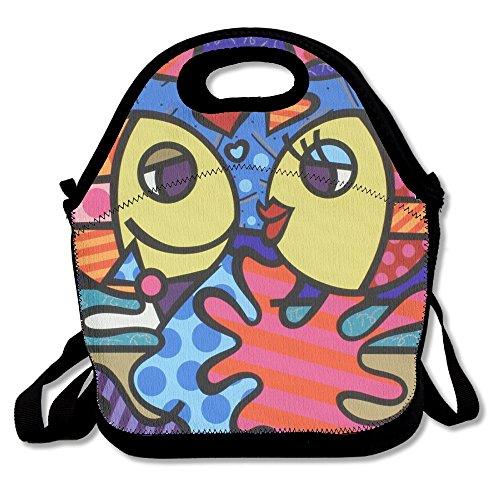 Two Fish Love Popular Lunch Bag Picnic Bag Backpack Bag Shoulder Bag Handbag