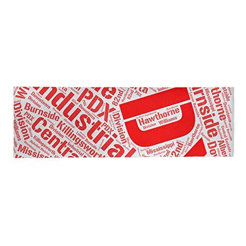 ArtVerse Rand Cites Portland Oregon Districts Word Art-Red Lunch Bag