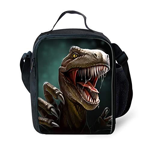 Pensura Dinosaur Printed Lunch Bag Lightweight Lunch Box for Kids Kindergarten