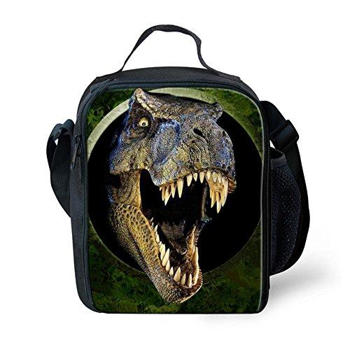 Showudesigns 3D Dinosaur Lunch Bag for Boys Kids Girls School Picnic Bag with Bottle Holder