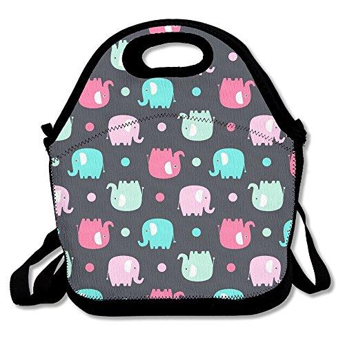 Cute Elphant Lunch Box Tote Bag