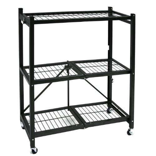 Origami General Purpose Steel Storage Rack with Wheels 3-Shelf Small