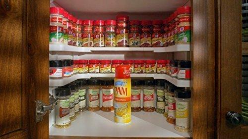 Spice Storage Shelf Stackable Organizer Set of 2