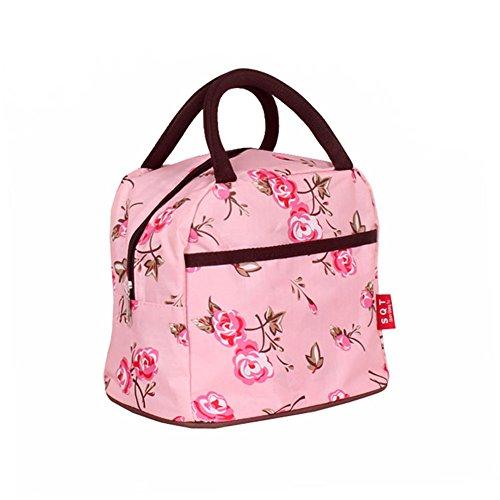 Kipten Lunch Bag Waterproof Canvas Reusable Fashion Handbag Lunch Box
