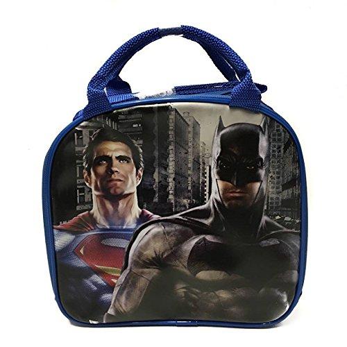 Batman vs Superman Blue Lunch bagsbox with Water Bottle