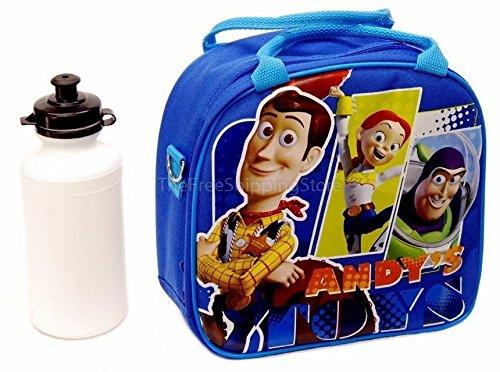 Toy Story Blue Lunch Bag for Kids with Water Bottle Adjustable Shoulder Strap