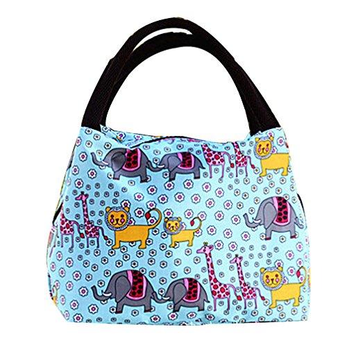 Airstomi Casual Canvas Womens Lunch Bag Tote Cute Giraffe Reusable Lunch Bag Organizer Box
