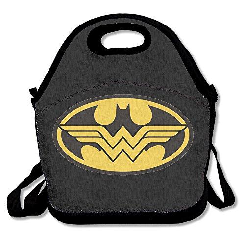 NNHAHA Batman And Wonder Women Lunch Bag Tote Handbag Lunch Boxes