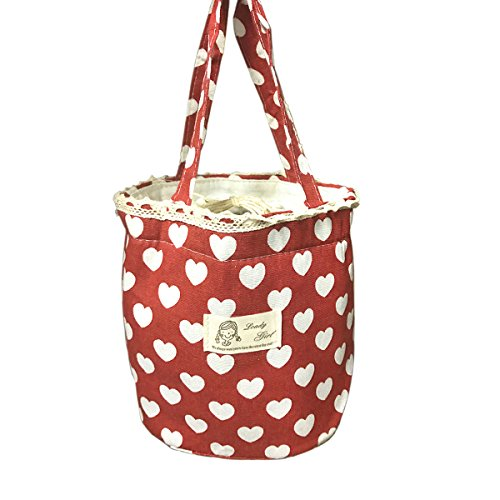 Tengling Cute Thermal Insulated Lunch Tote Reusable Lunch BagsFashion Lunch Box for Adults Women Kids School Office Love 3