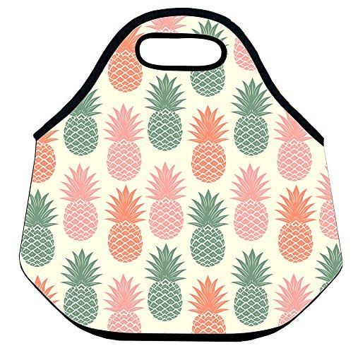 Estrellaw Pineapple In Pink Green Orange Lunch Bag